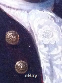 Tableau huile sur toile XVIIIème Portrait de gentilhomme époque Louis XV