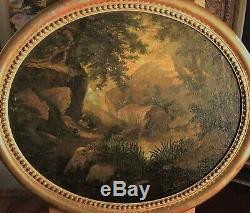 Tableau huile sur toile école française du 19ème siècle picture 19th Century