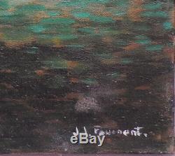 Tableau huile sur toile marine signée Fouénant