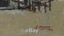 Tableau huile sur toile marine signée MAYER