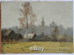 Tableau huile sur toile paysage de Serguei TOUTOUNOV