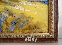 Tableau, huile sur toile signé Darling, St Paul de Vence, années 1980, encadré
