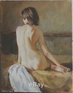 Tableau huile /toile Jeune femme nue signée Alexender SHEVCHUK