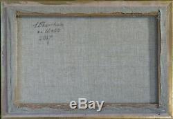 Tableau huile /toile nu allongé- signé SHEVCHUK Alexander