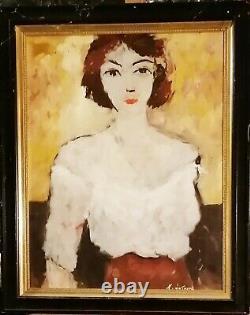 Tableau huile /toile portrait signée Latour
