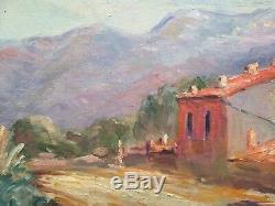 Tableau impressionniste Paysage de Provence Huile sur toile Signée