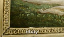 Tableau nu féminin daté 1858