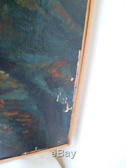 Tableau peinture huile sur toile M. GAUTHIER 1890