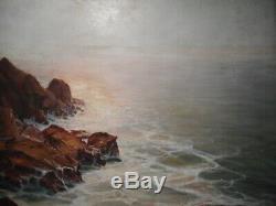 Tableau peinture marine Richard DURANDO TOGO Bretagne cote bretonne mer ocèan