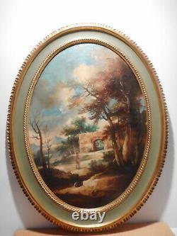 Tableau peinture paysage italien campagne italienne Ida CALZOLARI gout ancien