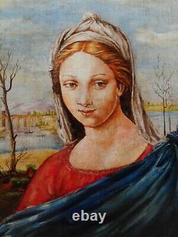 Tableau peinture portrait femme gout renaissance italienne peintre italien