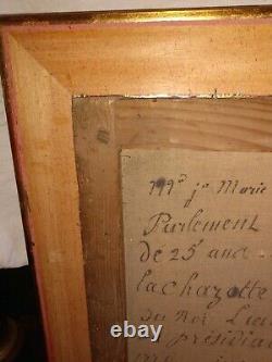 Tableau portrait de Monsieur Dorlbac seigneur de Bornes de la Chazette Velay
