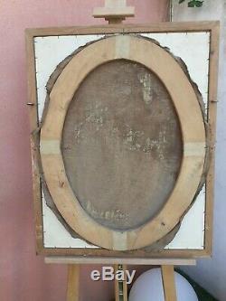 Tableau portrait jeune homme huile sur toile XIXème