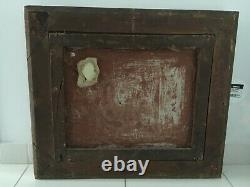Tableau très ancien huile sur toile cadre massif 1799