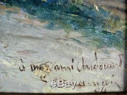 Très Intéressante Huile sur Toile, signée avec dédicace et Datée 1904