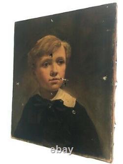 Très ancien tableau huile sur toile