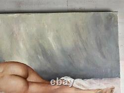 Très jolie huile sur toile jeune femme nue de Gustave Lempereur