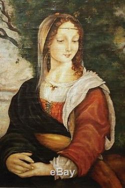 Un portrait de la femme renaissance, huile sur toile