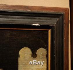Un vieux portrait de Renaissance, huile sur toile