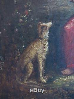 VENUS et CUPIDON. Huile sur toile XVIIIè / XIXè. Ecole Française. Cadre XIXè