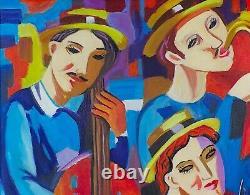 Veksler / Peintre Russe / Oeuvre Originale & Signee / Groupies