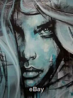 Vin Dantes Moonlight Peinture Originale sur Toile, Street Art