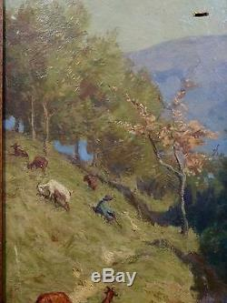 WALTER BIDDLECOMBE (1855-1903) Huile sur toile Signée et datée 1896