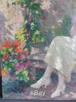 XIXème-début XXème-huile sur toile-impressionniste