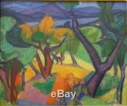 Yves ALIX (1890-1969) huile/toile Baie de St Tropez 1947